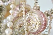 Kerst  -  Shabby Chic Pink Christmas