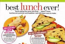 Easy-peasy lunches to go! / Ah, bringing lunch to work...it can be tough to plan ahead! Not only will these lunches save your waistline, they'll also save your budget!