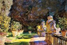 John Singer Sargent / John Singer Sargent (Florence, 12 januari 1856 - Londen, 14 april 1925) was een Amerikaanse schilder. Hij had Amerikaanse ouders, maar werd geboren in Italië en leefde het grootste deel van zijn leven in Europa. Hij werd met name bekend vanwege zijn portretten, maar aan het eind van zijn leven legde hij zich toe op het schilderen van landschappen. Hij maakte in totaal ongeveer 900 olieverfschilderijen, 2000 aquarellen en talloze schetsen en houtskooltekeningen