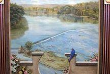 Trompes l'oeil, peintures murales, fresques / by Mireille Rossier