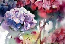 Watercolor -  Bloemen