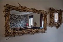 Rustic Driftwood Mirrors / Beautiful and unique hand-made driftwood mirrors from Celtic Coast Creations.
