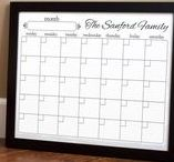 For the Home / Custom designed printable items for the home. Calendars are designed to be printed on plain paper and placed inside standard picture frames. From there, the glass becomes a dry erase board. http://www.alextebow.com