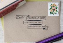 Addressing Envelopes / Posts and images I've saved as inspiration on addressing envelopes, calligraphy, script, typography, and stamping.
