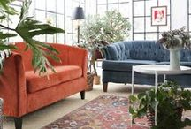 The Style Files No. 45 / This mid century house tour is the home of Susie. Part of our Style Files series, it shows off a beautiful home with eclectic decor. Think velvet sofas, dark decor, vintage finds, second hand furniture all combined to create amaze interior design inspiration.