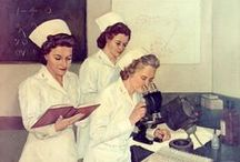 The Art of Nursing History / Nursing is an art with a long and storied past. What began as an occupation with little training has evolved in a highly formalized scientific field. Through all the training though, nurses have not lost their instinct for caring and compassion. For more information on nurses in art read, Nursing, The Finest Art- An Illustrated History, by M.Patricia Donahue, PhD, RN  Board Curated by Elisa Stroh, '14