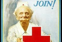 Vintage Red Cross Posters / The Bates Center has a wonderful collection of vintage Red Cross posters, many from WWI and WWII