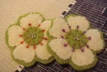 embroidered wool and felt