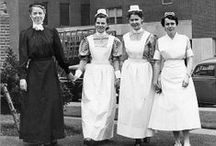 Evolution of the Nursing Uniform / Nursing uniforms have come a long way from the starched white dresses and caps of the late 19th and early 20th century.