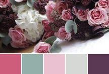 Amida paleta de colores bodas Mallorca / Armonía de colores para tu boda