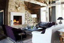 Rustic Meets Modern / Hope you enjoy these photos of what I think are beautiful representations of rustic/mod designs!