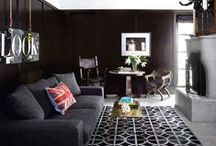 Beautiful in Black / I love the color black, so I wanted to create a board that showcases some amazing interiors/exteriors and decor that has predominantly dark colors . =) Hope you enjoy!