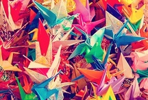 Paper Cranes...my new obsession  / by Brittany Kembel