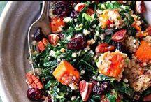 SALADS & SOUPS / yummy salads and soups, kale, greens, etc