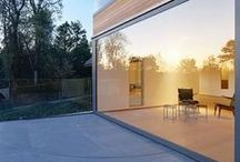 Glass Half Full / Images of glass windows/doors/walls. #design #galss #walls #windows #modern #classic #interiors #architecture #glassdoor #largewindows