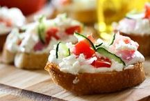 Crazy For Crostini  / Happy hour on on a summer patio, movie night, holiday get-together or lunch while vacationing, crostini makes every event better!  It is a complete couple bites - a little crunch of crust with something sweet and/or savory.  Crostini is for all occasions, from casual to the most formal.  If you like, you can even make a meal of it!  There is no end to the delightful ingredient combinations available, so  try it soon, okay?  (I intend to try all of these!) / by Make Your Divorce Cost You Less