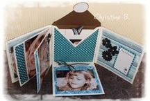 Boxes and Mini scrapbooks / hand made paper boxes and mimi scrapbooks / by natalie jenkins