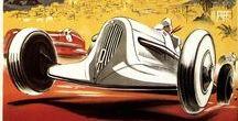 Carteles vintage / Nos encantan los carteles antiguos de publicidad relacionada con automóviles