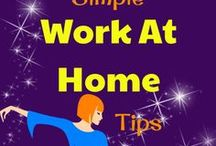 Work at Home / Want to work at home? Find tips and ideas to make your work at home dreams a reality. Mostly about work at home jobs and freelancing.