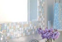 MIRROR BORDER -  Ideas / How to add a tile border to a boring mirror.
