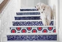 STAIR RISER - Ideas / Add personality to your staircase with tile.