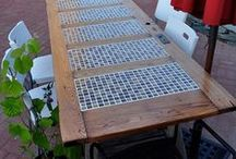 CRAFTS - Furniture Ideas / Repurpose furniture with the beauty of tile.