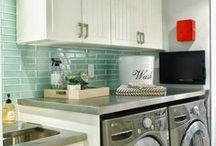 LAUNDRY ROOM - Backsplash Ideas / Freshen your laundry room with tile.