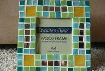 CRAFTS - Frame Ideas / Add tile to a boring frame and make it your own.