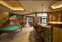 MAN CAVE / WET BAR - Ideas / Tile can make your space your own.