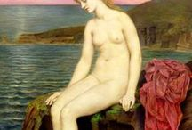 Evelyn De Morgan (1855-1919) / British Pre-Raphaelite painter with Neoclassicism and Art Nuveau influences.