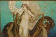 Franz von Bayros (1866-1924) / Austrian, illustrator, and painter