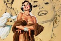 Al Buell (1910-1996) / American painter of pin-up art