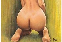 Alain Aslan (1930-2014) / French painter, sculptor and pin-up artist