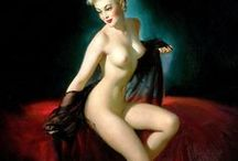 Gil Elvgren (1914 - 1980) / American painter of pin-up girls, advertising and illustration