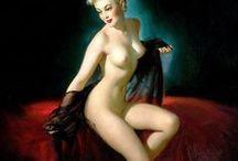 Gil Elvgren (1914 - 1980) / American painter of pin-up girls, advertising and illustration
