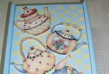 decoupage & hand painted objects