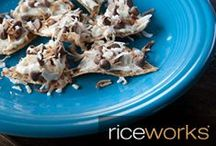 Let's get snacking! / Top your favorite riceworks crisps with these simple and fresh ingredients.