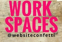 Creative Workspaces {to INSPIRE and ENVY} / A collection of  // dream offices // workspaces // home offices // dream home offices //  office makeovers  // Curated by  www.websiteconfetti.com                                                           .     Follow @websiteconfetti for fresh inspiration daily