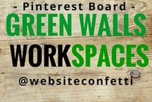 { Divine Green } workspaces and offices / Looking to paint your office workspace green? Want some inspiration for your green color scheme?                                        Curated by @websiteconfetti  this is just one of the many boards put together to help you find inspiration and ideas for your home office workspace makeover.  Visit the other boards @websiteconfetti