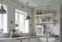 Landkøkken, Country Kitchen, Scandinavian Country Kitchen