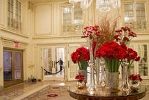 Floral Designs for The Plaza Hotel's Lobby / Keep up with the weekly floral designs displayed in the main lobby of The Plaza Hotel.  Our creative designers change the colors, flowers and designs for a new look every week.  You can even own a miniature version of The Plaza weekly arrangement by visiting our website at www.gramercyflowers.com.