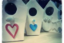 Homes for birds / Work in progress! Soon you will find on my Etsy lovely homes for birds, made of ceramic!