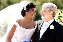 Just married / Photos de mariage de personnalité du cinéma #mariage de stars #moviestar wedding / by BoMontage