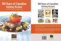 Cookbook / 100 years of railroad recipes - The EXPORAIL Cookbook.  200-page Cookbook featuring recipes from the three largest Canadian railway companies, highlighting their cooking expertise throughout 100 years of operation. This book offers 90 recipes grouped under deliciously evocative historical themes.