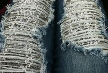 Totally addicted to ripped jeans..