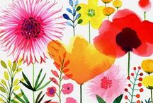 Watercolor Flowers / My watercolor floral illustrations