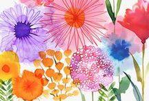 Flower Illustrations / Watercolor florals