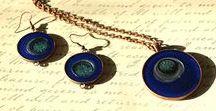 ARTBYSANDRAV Jewelry / Unique artist made jewelry - pendant necklaces, earrings, bracelets and rings based on my original artwork. www.etsy.com/shop/ARTBYSANDRAV