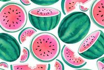 Fruit Illustrations / Watercolor fruit illustrations by © magrikie