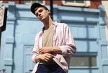 AIDA Shoreditch High Summer 16 Editorial / Images from our High Summer Editorial 2016. City style for the warmer months with light layering, print co-ords, and fresh colour ways. Models Billie Jean and Brieu (Nevs Models). Photographer Brogan Chidley. Stylist Rowan Swale.